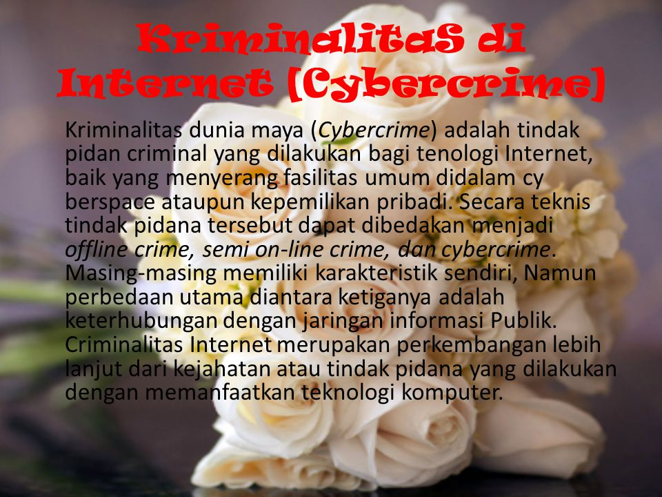 KriminalitaS di Internet [Cybercrime]